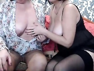 Fledgling brown-haired girl/girl pornography starlets on cam best sex
