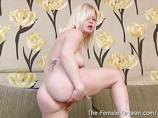 Multi Orgasamic stunner with pointy nips and One yam-sized PussyLip sex tube
