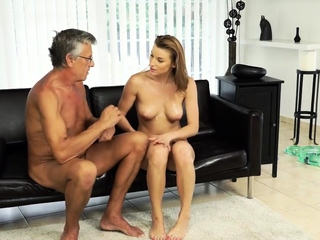 DADDY4K. Girl left with mouthhole of jizz after fuckfest with boyfriend free porn