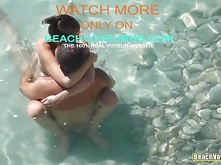 Super-hot bare teenager taunting her bf in the water porn video