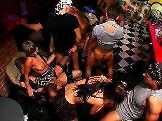 Pretty nymphs are raw with needs during club partying freesex