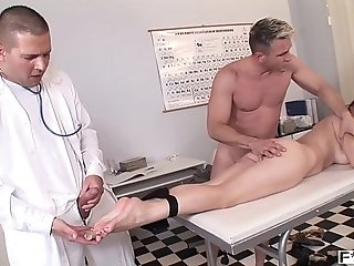 Jism fountain over nubile Brill Xandra's killer soles after hard-core sole plow porn video