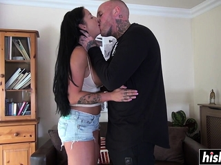 Tatted fellow fucks a dark haired sweetheart sextube