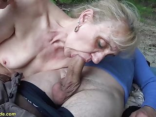 Outdoor orgy with gross stepmom porntube