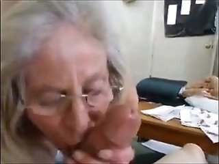 Greedy grandmother hasty hj and spunk in gullet free porn