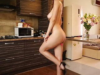 Bare in the kitchen best porn
