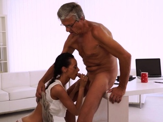 Aged muscle daddy hard-core ultimately she's got her boss shaft best porn