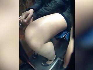 Soiree nymphs on tram upskirt oopsy free porn