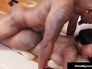 Smack My Black ass! Dark knob Rome Major boinks black GoGo! best sex