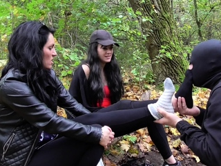 German brat doms want their gimps outdoor odor their soles pornvideo