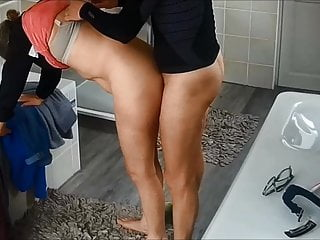 My wifey humped after her morning run trio - hidden webcam best sex