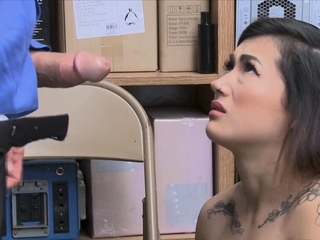Nubile chinese thief meets officer pipe in close up best porn