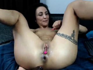 Fur covered mature luved dual invasion with fucktoys sex video