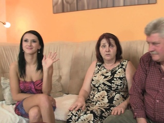 Highly elderly duo penetrate sonnies dark haired nubile girlfriend free sex