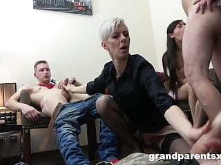 Elderly vs youthful After soiree fuck-fest sex video