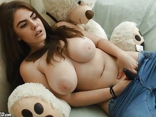 Wonderful ginormous congenital melons teenage taunting spunk-pumps porn video