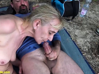 Gross aged mummy very first public beach romp sexvideo