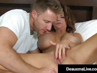 Large knocker milf Deauxma enjoys youthful stiffy & jism! best sex