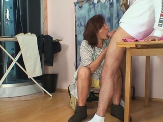 Fur covered older cooter tailoress opens up her gams for him porntube