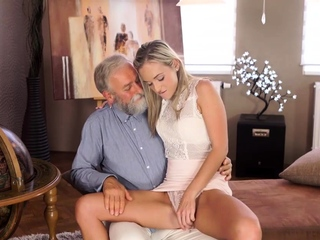 Elderly4K. Wishes come true when adorable dame takes elderly lollipop free sex